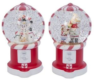 Lighted-Christmas-Gumball-Peppermint-Candy-Machine-Spinning-Water-Snow-Globe-Set