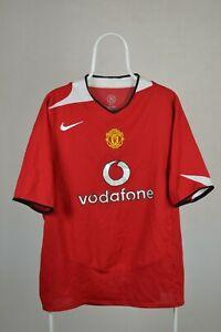 Manchester United 2004/2006 Calcio Casa maglietta jersey calcio Nike Vintage XL