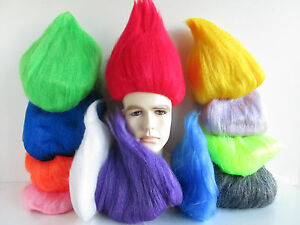 Image is loading ADULT-TROLL-WIG-THING-ONE-TWO-GNOME-CLOWN-