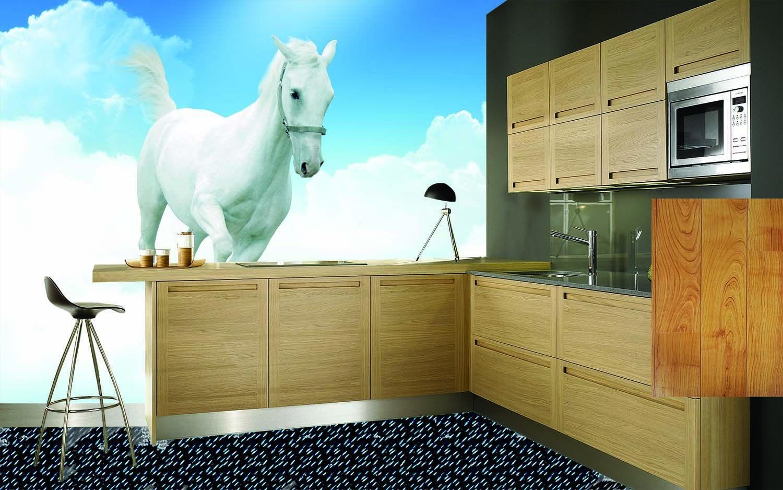 3D Weißes Pferd Himmel 754 Tapete Wandgemälde Tapete Tapeten Bild Familie DE  | New Style  | Öffnen Sie das Interesse und die Innovation Ihres Kindes, aber auch die Unschuld von Kindern, kindlich, glücklich  | Elegante und robuste Verpackung