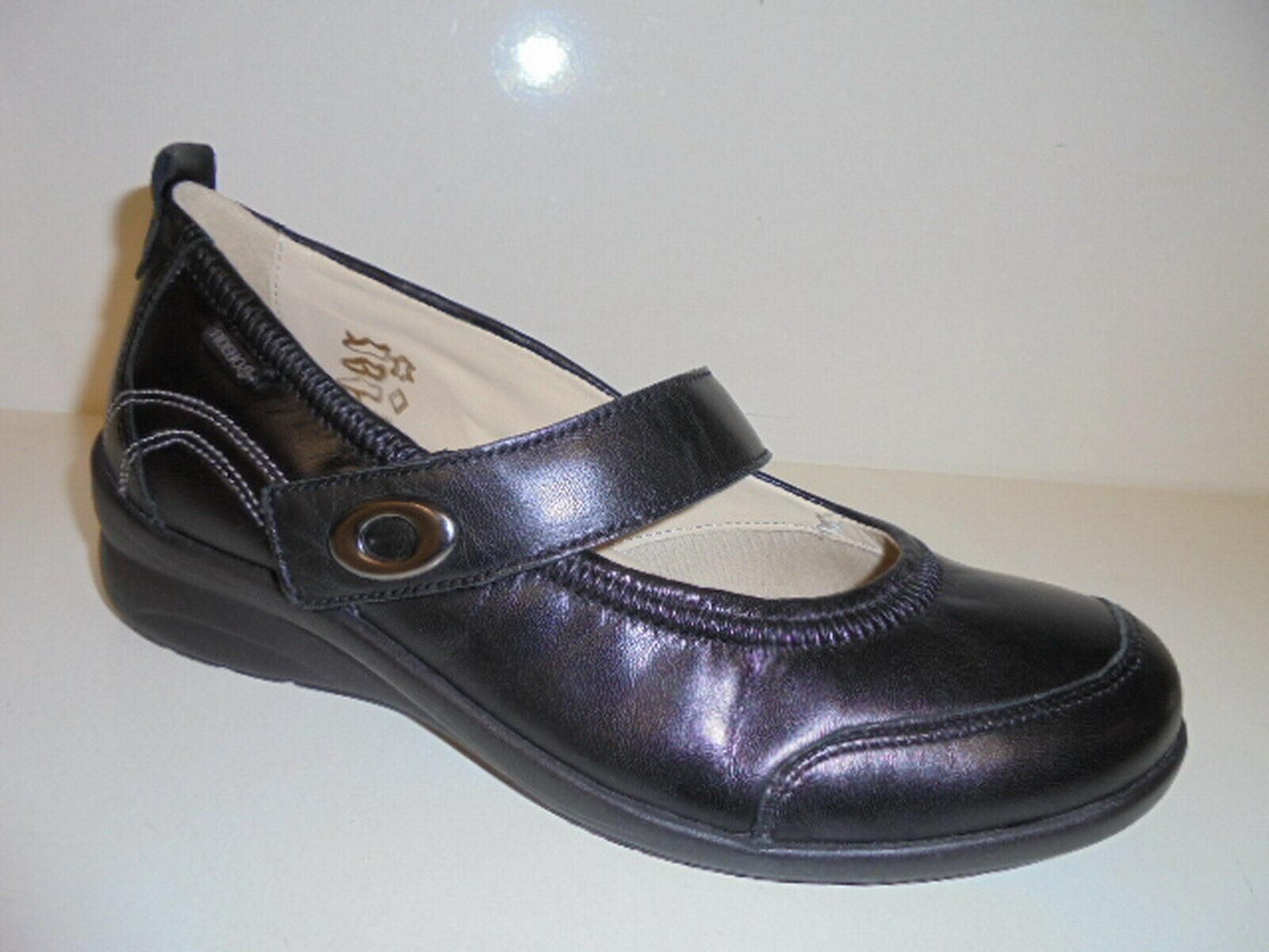 356006 Fidelio Damenschuhe Ballerina Leder schwarz UK 8½ Grösse 42,5