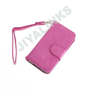 PINK-SUEDE-LEATHER-LOOK-WALLET-CASE-COVER-FOR-IPHONE-4-4S
