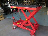 Pinball Machine 250kg Hydraulic Trolley Table Workbench Cart Mover Ute Trailer