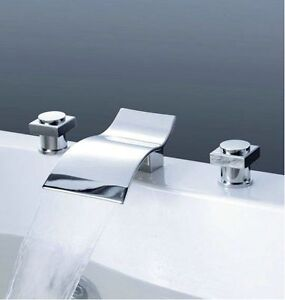 3 Piece Bathroom Sink Faucet : ... -Spout-Bathroom-Basin-Mixer-Tap-Bathtub-3-Piece-Faucet-Set-rgrstg4