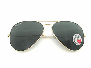ray ban rb3025 aviator large metal polarized 001/58