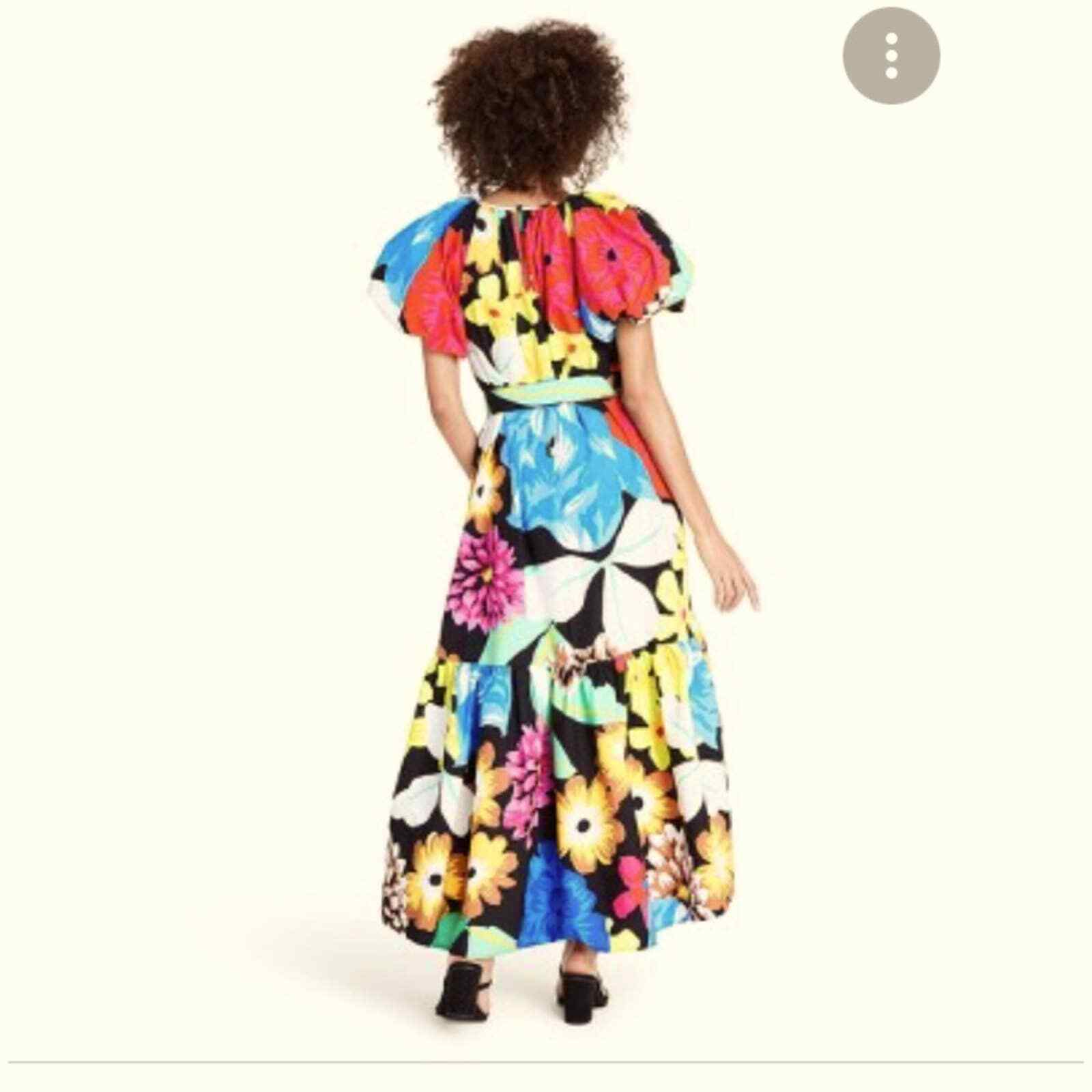 Christopher John Rogers Floral Puff Sleeves Dress - image 3