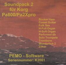 PEMO Software Soundpack 2 für Korg Pa800 oder Pa2Xpro