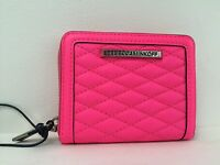 Rebecca Minkoff Mini Ava Zip Quilted Leather Wallet Electric Pink