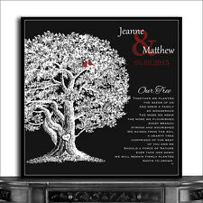 (CWA-1211) Personalized Square  10th Anniversary Our Family Tree Poem For Wed...