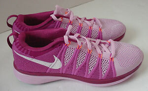 6eb1a150a1fb6 WOMEN S Nike Flyknit Lunar2 Running Shoes Sneakers 620658-615 Pink ...