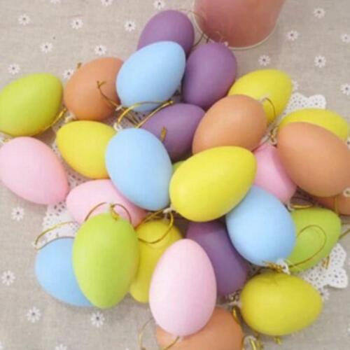 1//2//5//10PCS EASTER EGGS Coloured Plastic Egg Kids Mini Toy DIY Easter Home Decor