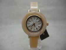 Authentic Anne Klein AK-2524CMHN Round Dial Resin Bracelet Women's Watch