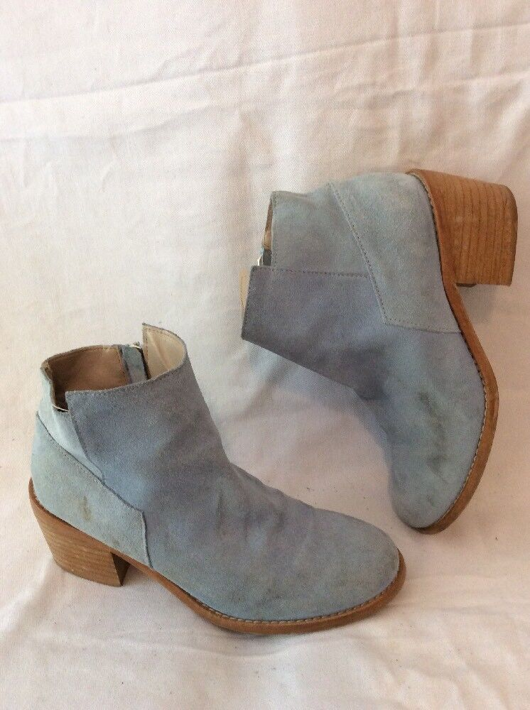 Zara Basic bluee Ankle Suede Boots Size 36