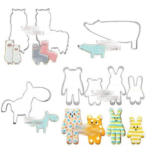 8pcs set Lovely Animal Series Polar Bear Cute Bear Little Donkey Alpaca cutters