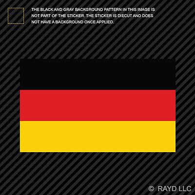"""4"""" German Flag Sticker Die Cut Decal Self Adhesive Vinyl Germany"""