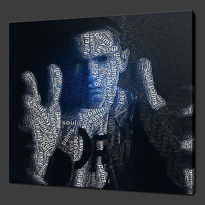 "EMINEM TYPOGRAPHY ART MODERN PICTURE PHOTO BOX CANVAS PRINT 12""x12"" FREE UK P&P"