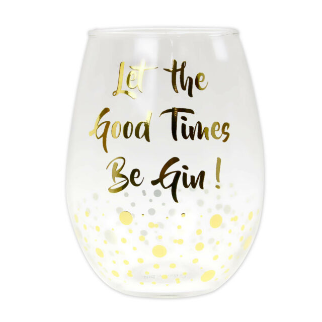 Gold Edition Knock Knock Its Gin O Clock Copa Stem Glass Confetti Party Cocktail