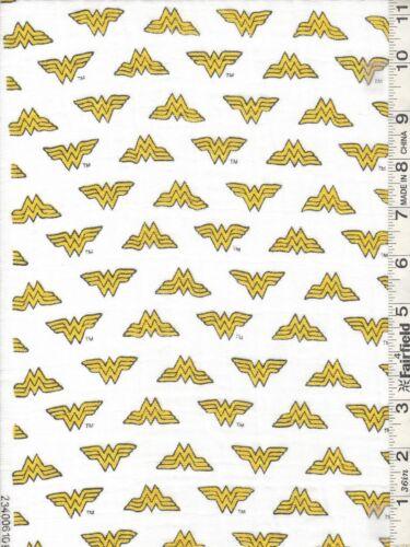 White Batman /& Wonder Woman Double Gauze Cotton Fabrics SOLD SEPARATELY bty