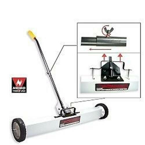 """NEW 36 Inch Magnetic Sweeping Picker Pusher.7/"""" Wheel.Construction Site Cleaning."""