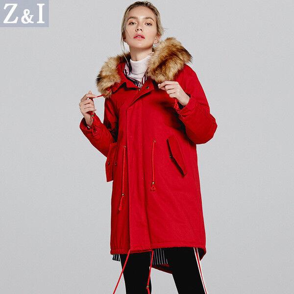 Giacca giaccone cappotto caldo cappottino lungo rouge parka comodo 1294