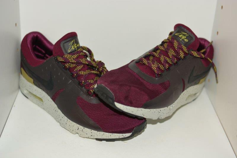 NIKE AIR MAX ZERO SE BORDEAUX Hommes RUNNING Chaussures - Hommes SIZE 9