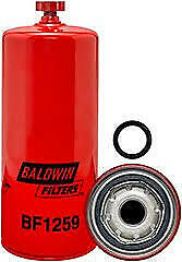 Baldwin Filters BF1259 Fuel//Water Separator Spin-on with Drain 3 Pack