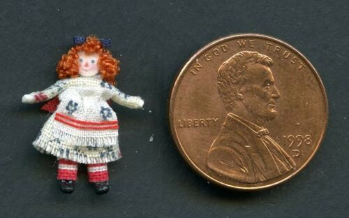 SUPER TINY PORCELAIN DOLLY #2A 1:12 Scale DOLLHOUSE MINIATURES ARTISAN MADE