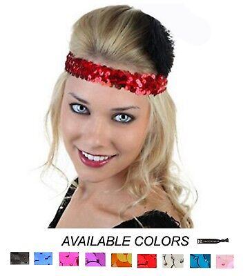 Glitter Headbands Lot Elastic Sparkly Sequin Sports Headband Softball Wholesale