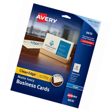 avery 88221 clean edge inkjet business cards ivory round edge 2 x 3