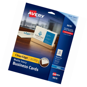 picture regarding Printable Printers called Info more than Avery Printable Business office Playing cards, Inkjet Printers, 200, 2 x 3.5, Fresh Advantage, Weighty