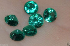A Single 3mm Round Genuine Enhanced Green Emerald!!!