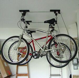 Delightful Image Is Loading Ceiling Mounted Roof Bicycle Rack Garage Pulley Racks