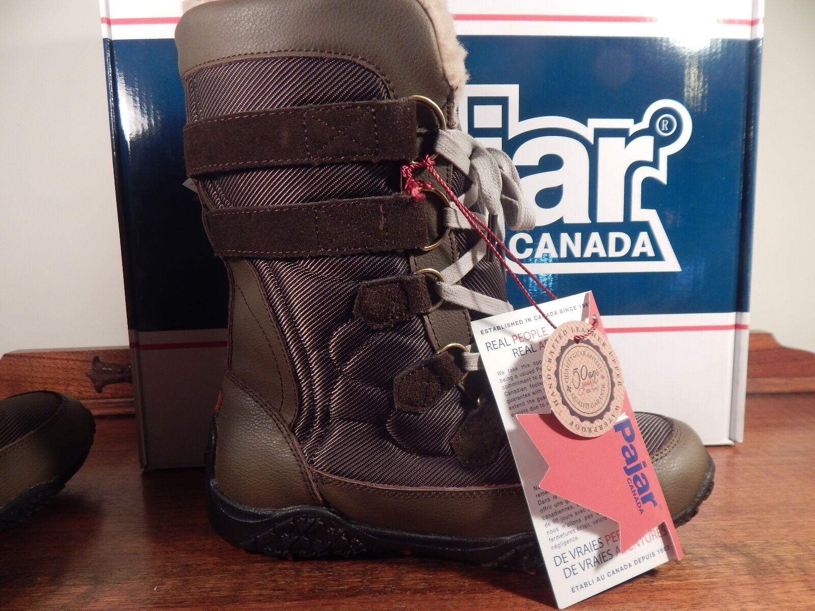Pajar Canada Aventure Low Womens Dark Brown Winter boots size 6.5-7 37 6.5-7 size NWB DB aff512