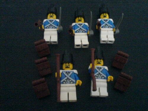 Lego 5 Blauröcke mit Waffen Piraten -1 Neue Version Blauröcke Rotröcke