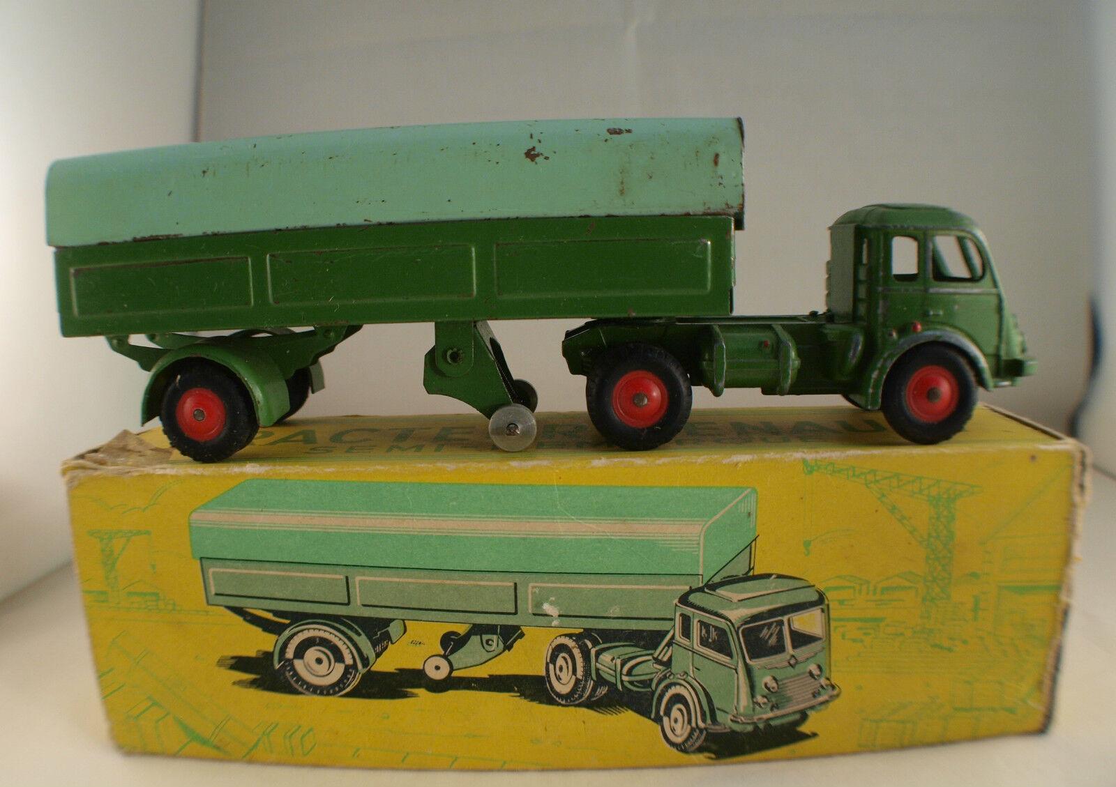 Cij f n ° 3,70 tracteur renault - remorque b â ch é en bo î te