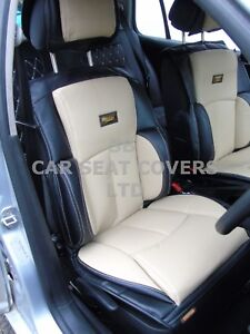 I To Fit A Volvo Xc90 Car Seat Covers Ys01 Recaro Cream Black