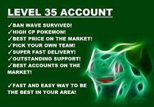 [INSANE] POKEMON-GO-ACCOUNT-LEVEL-35 [EMAIL CHANGEABLE] [1,000,000 STARDUST] !!!