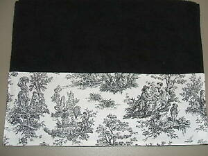 Image Is Loading Black Hand Towels Amp White French Country