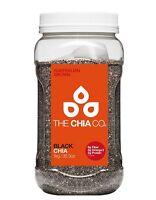 The Chia Co. Black Chia Seeds 1kg Australia Grown- Protein Omega-3 Fibre