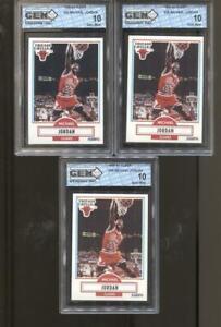3 CT 1990-91 Michael Jordan Fleer #26 Gem Mint 10 RC Chicago Bulls MVP HOF