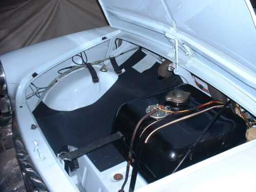 CLASSIC FIAT 500 D /& BIANCHINA INTERIOR BOOT TRIM FRONT BONNET RUBBER BOOT MAT