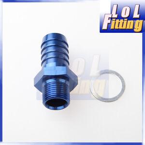 "Bosch 044 Fuel Pump Inlet M10 X 1.0 To 5//16/"" 8mm Barb Aluminum Adapter"