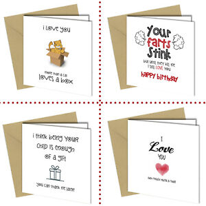 Image Is Loading Funny Birthday Card For Boyfriend Husband Girlfriend Wife