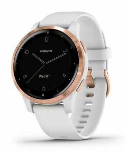 New Garmin Vivoactive 4S White Rose Gold GPS Smartwatch + More