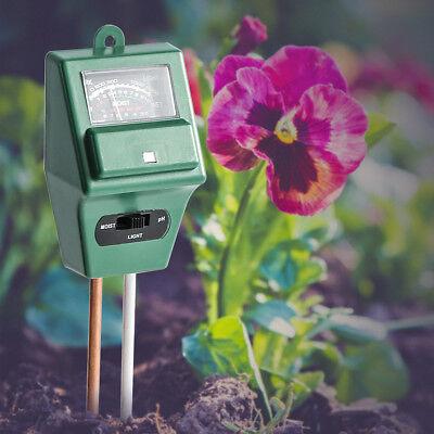 For Garden Plant Flower 3 in1 PH Tester Soil Water Moisture Light Test Meter New
