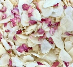 Biodegradable-WEDDING-CONFETTI-IVORY-FLUTTERFALL-Real-Petals-Raspberry-Pink