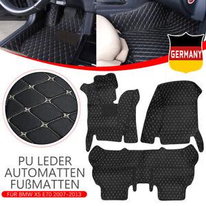 Fussmatten-PU-Leder-Automatten-Wasserdicht-Bodenmatten-Fuer-BMW-X5-E70-2007-2013