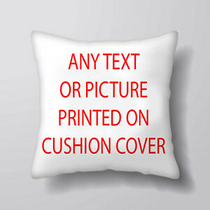Details about Any Picture Design Text Printed Cushion Covers Pillow Cases  Home Decor or Inner