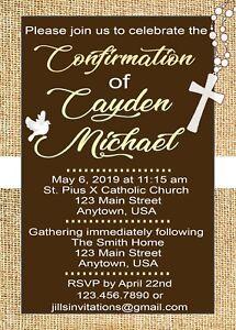 confirmation invitations confirmation communion invitations