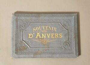 Souvenir-d-039-Anvers-carnet-de-20-gravures-anciennes-Collections-Belgique